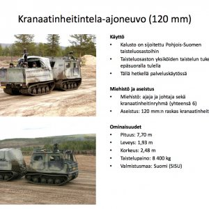 Kranaatinheitintela-ajoneuvo 120mm