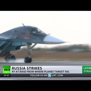 First look at Russian airbase in Latakia from where jets take off to bomb ISIS (EXCLUSIVE) - YouTube