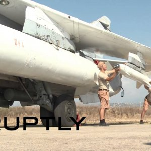Russian Sukhoi jets prepare for sorties aimed at crippling ISIS
