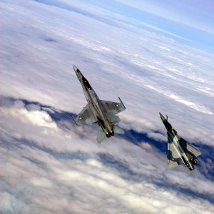 Finnish F/A-18C + French Air Force Mirage 2000-5F