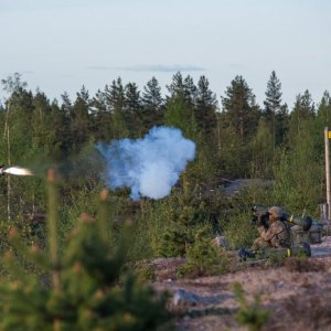 US troops launching Javelin Anti-Tank Missile